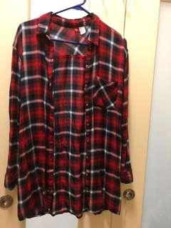 Tartan shirt dress