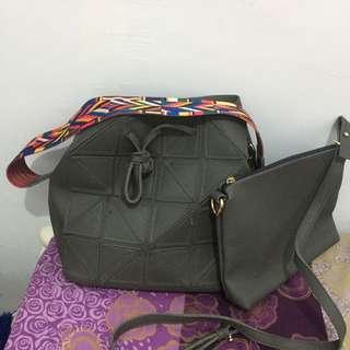 Grey Strap Bag 2 in 1