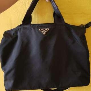55c25170c1b5 Prada nylon shopping tote bag/babybag/lappie/sling/shoulder