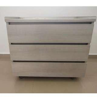 Drawers With Rollers TV Console Pedestal
