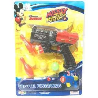 Mickey Mouse Pistol Bowling Pingpong Mainan Anak Laki-Laki HA
