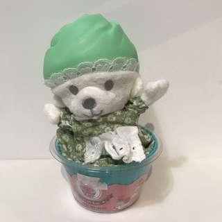 🚚 杯子蛋糕熊(薄荷綠)僅限超取付款