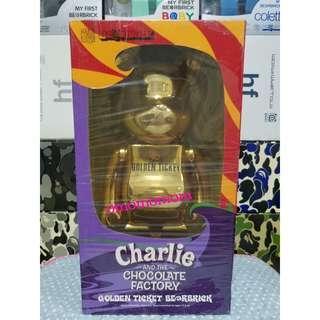 Medicom Be@rbrick Charlie & Chocolate Factory 400% Golden Ticket Bearbrick