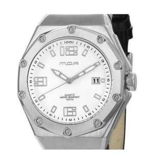 100% AUTHENTIC - MOA Decagon Luxury Leather Analog Watch KM950-1101