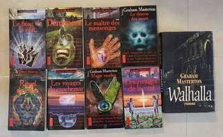French novel-Graham Masterton horror thriller novel collection, Roman Francais