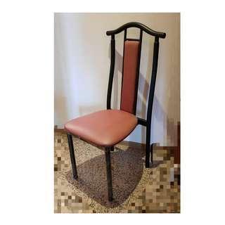 經典設計金屬高背椅