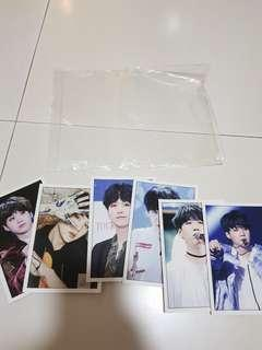 BTS suga photocards