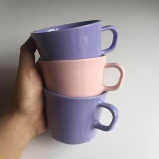 Pink/ Purple Cute Plastic Cups