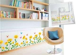 全新 太陽花腳線牆貼 大自然50x70cm wallsticker 防水可撕 玻璃木門櫥櫃 蝴蝶🦋