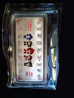 2008年奧運紀念銀條50g有盒有證書,全套齊,幾乎同新嘅一樣
