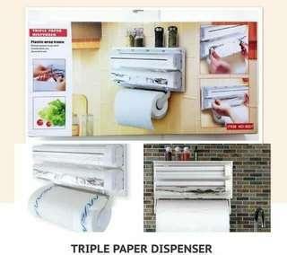 Kitchen Triple Paper Dispenser