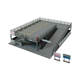 全新 1/150 日本優質紙模型 雙層停車場 火車鐵道模型 情景小物 N比例 (not Tomytec Tomix Kato)