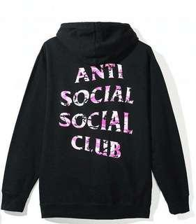Assc anti social social club undefeated camo hoodie size M