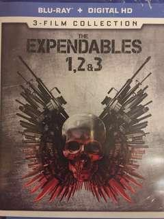 The Expendables 1-3 Blu ray
