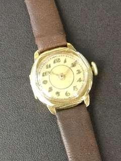 14k 585金壳 30年代上鍊機械錶