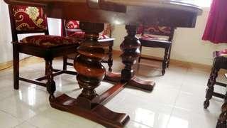 Meja makan ukiran jati tua