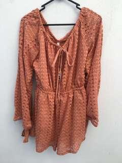 Brand new size 8 peachy rust playsuit
