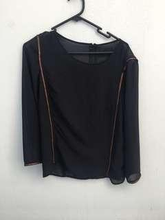 H&M size 8 sheer black mesh top