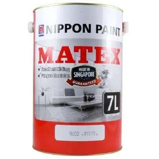 Nippon Matex White Paint - 7 Litre - Brand New - Unopened