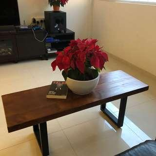 Walnut solid wood coffee table