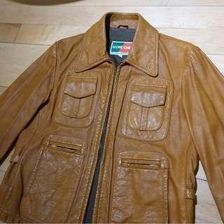 Vintage racing leather jacket