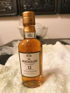 麥卡崙12年威士忌5CL冇盒