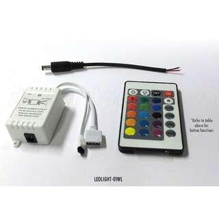 🚚 HXK WIRELESS IR Colour Control Device for multi-colour SMD LED Light Strips, DC12V. Code: LEDLIGHT-01WL