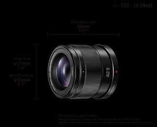 Panasonic 42.5mm f1.7 H-HS043 lens