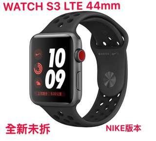 [凱一3C]APPLE WATCH3 S3 44mm GPS + LTE NIKE版 黑色 全新未拆[可搭配門號]