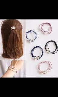 🚚 韓式熱賣珍珠髮圈到貨啦