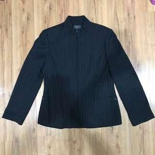 Black pin striped blazer