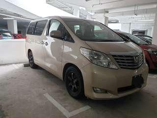 Toyota Alphard 2.4A for rent