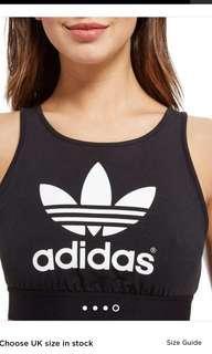 Adidas trefoil crop top