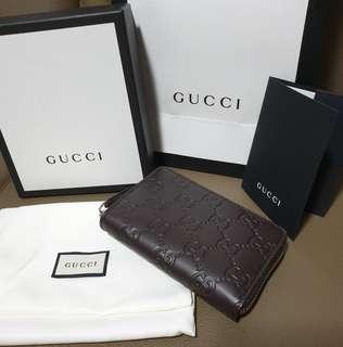 Gucci Brown Signature Card Case