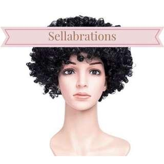 🚚 [Sellabrations] INSTOCK Adult Black Afro Wig