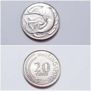 Singapore old coin 1968.