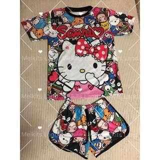 Hello Kitty Set Pants And Shirt