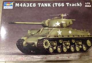 1/72 M4A3E8 Sherman Tank ( T-66 Track)