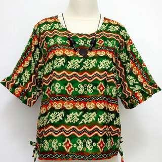Batik Hijau top blouse