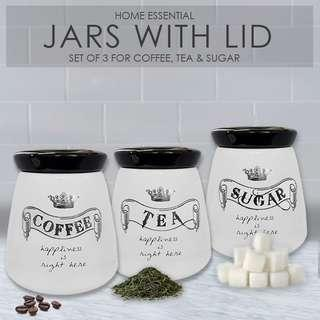 Ceramic storage jar (set of 3)