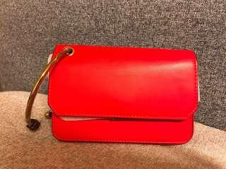 Charles & Keith Red Clutch