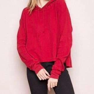 ❤️ RARE Brandy Melville Lennon Hoodie Pullover in Red