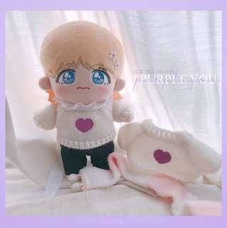 I PURPLE YOU BTS 20CM DOLL SWEATER
