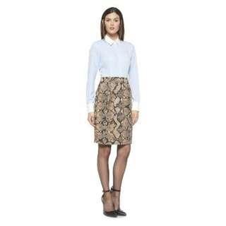 NWT Defects ALTUZARRA Target Menswear Striped Python Dress US 10 **SEE PICS**