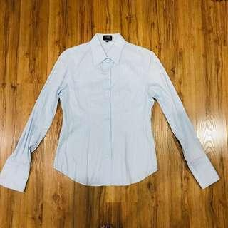 Baby blue office shirt with cuffs