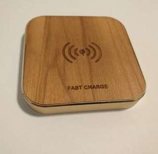 10W wood qi wireless charger
