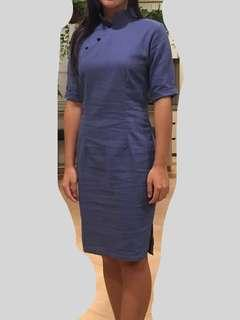 Denim Coloured Cheongsam