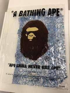A Bathing Ape Bape tote bag 手裝(藍色)