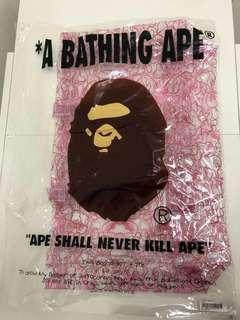 全新A Bathing Ape Bape tote bag 手裝(紅色)