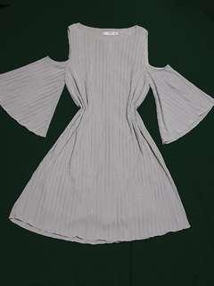 Mango cold shoulder dress